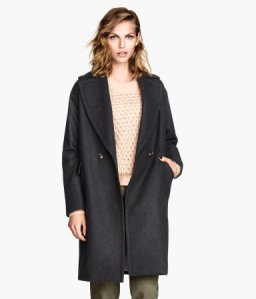 Coat in a wool mix