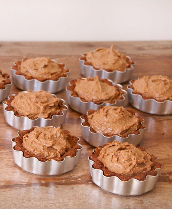 chocolat hazelnut tarts